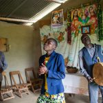 The 15-year-old Aidah leads the service in a church in the Bududa district.